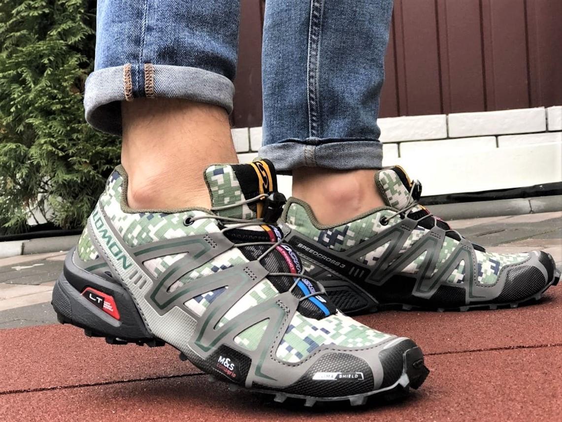 Демисезонные мужские кроссовки Salomon Speedcross 3 в стиле Саломон милитари