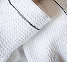 Женский  вафельный халат XXL с графитовым кантом, фото 3