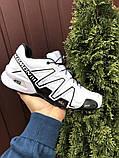 Демисезонные мужские кроссовки Salomon Speedcross 3 в стиле Саломон белые, фото 3