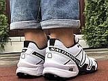 Демисезонные мужские кроссовки Salomon Speedcross 3 в стиле Саломон белые, фото 4