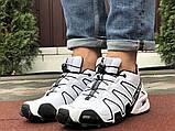 Демисезонные мужские кроссовки Salomon Speedcross 3 в стиле Саломон белые, фото 2