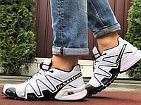 Туфлі чоловічі кросівки Salomon Speedcross 3 в стилі Саломон білі