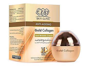 Крем для обличчя ЄВА eva collagen з колагеном від зморшок ANTI AGEING Anti-Ageing gold Collagen 3D-крем від зморшок