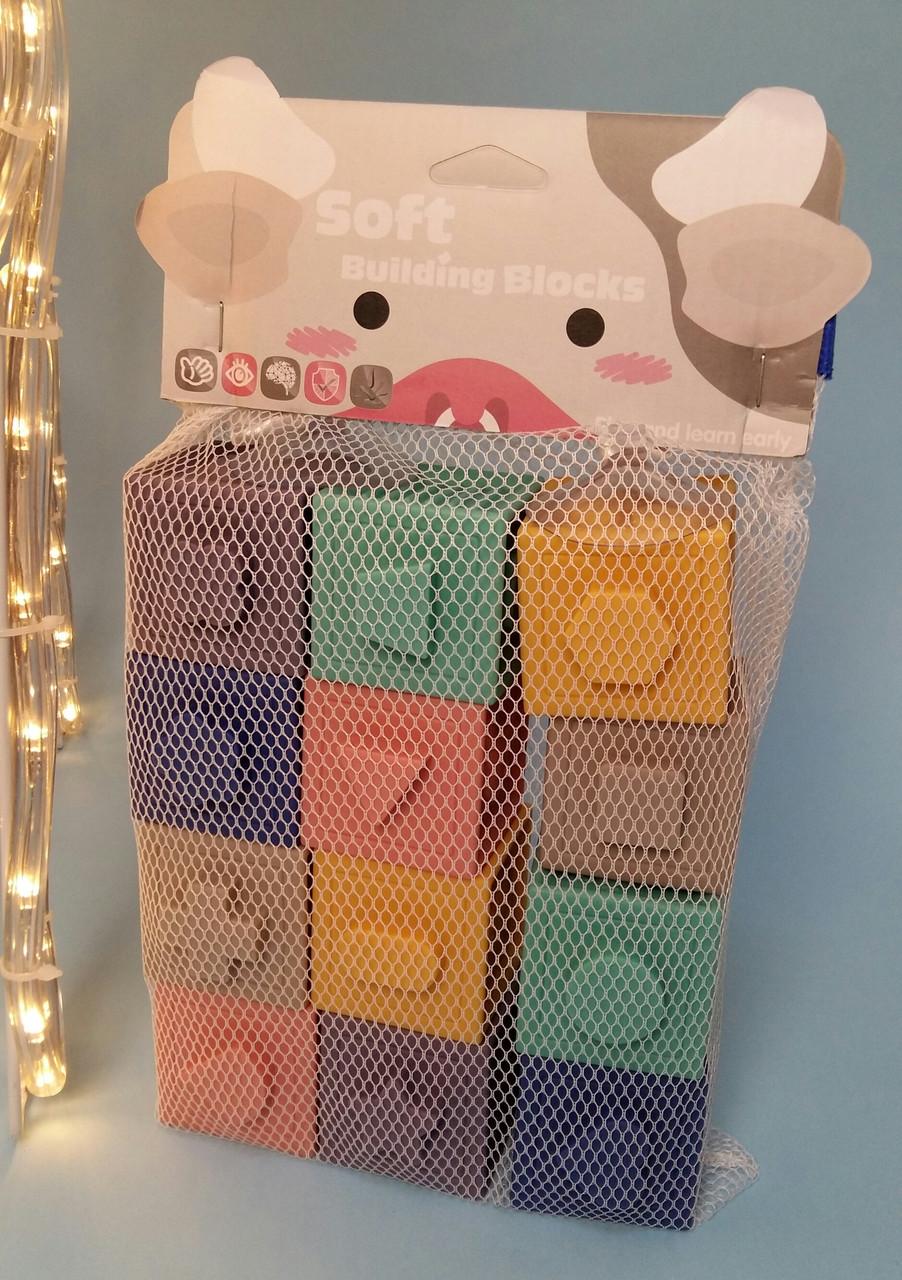 Тактильны детские кубики Soft Building Blocks1004