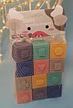 Тактильны детские кубики Soft Building Blocks1004, фото 2