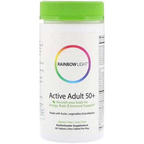 Мультивитамины Для Взрослых, Активная зрелость, Active Adult 50+, Rainbow Light, 90 таблеток, фото 2