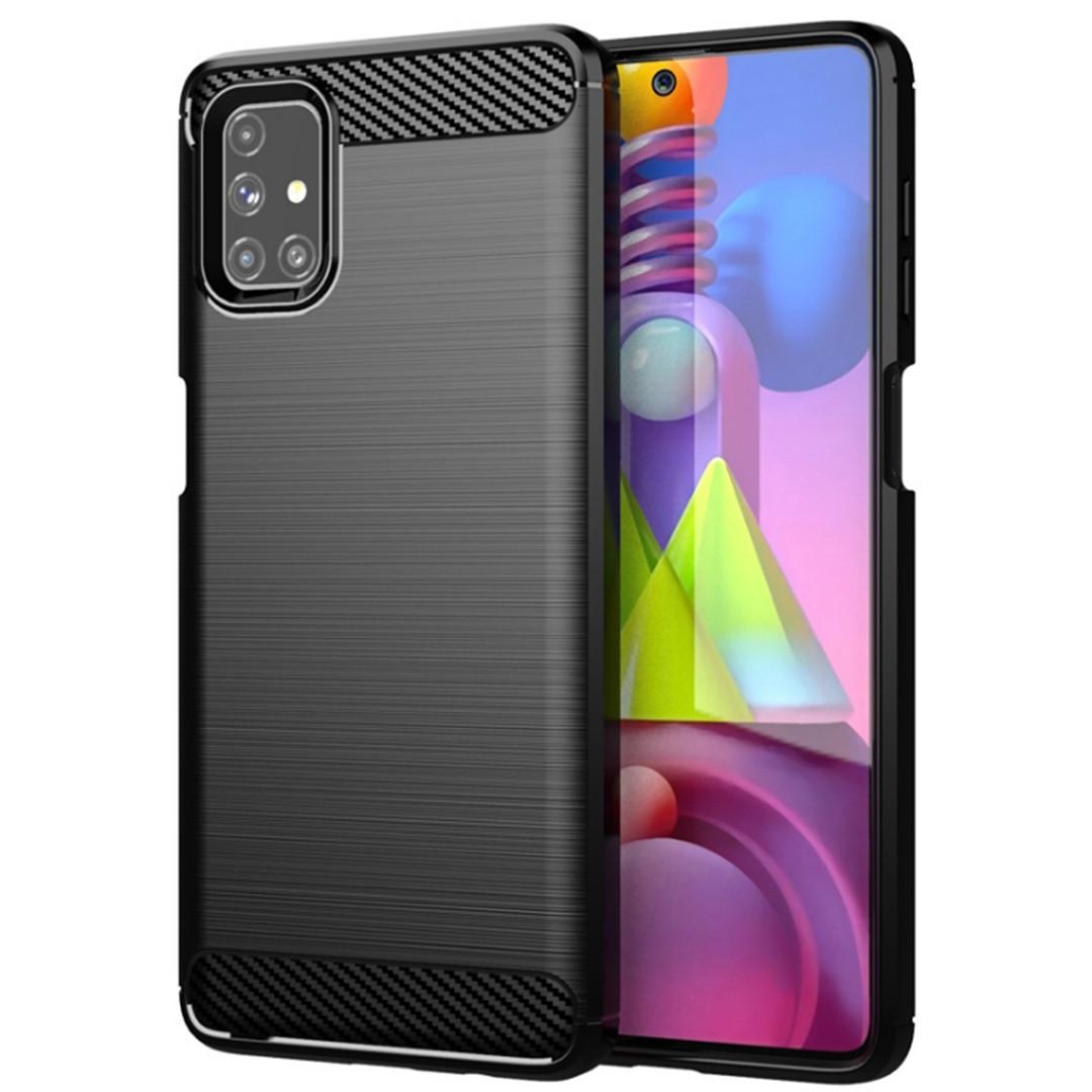 Противоударный чехол для Samsung Galaxy M51 (SM-M515), Rugged Carbon, черный