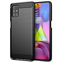 Противоударный чехол для Samsung Galaxy M51 (SM-M515), Rugged Carbon, черный, фото 1