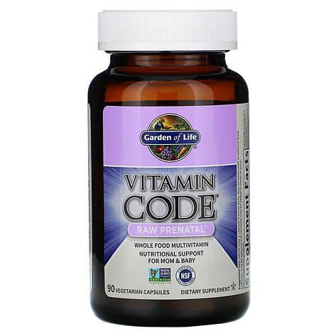 Сырые витамины для беременных, RAW Prenatal, Vitamin Code, Garden of Life, 90 вегетарианских капсул, фото 2
