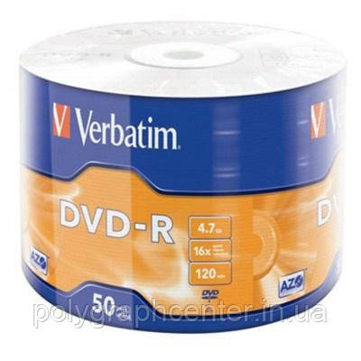 Диски DVD-R Verbatim 4.7GB 16x Wrap