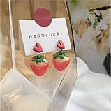 """Серьги клубнички """"Juicy Strawberry"""", 2 цвета, фото 3"""