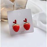 """Серьги клубнички """"Juicy Strawberry"""", 2 цвета, фото 4"""