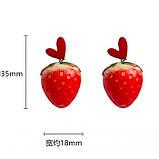 """Серьги клубнички """"Juicy Strawberry"""", 2 цвета, фото 6"""