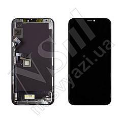 Дисплей APPLE iPhone 11 PRO (AMOLED) (GX) с черным тачскрином