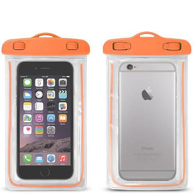 Водонепроницаемый чехол для телефона с ремешком оранжевый 180968