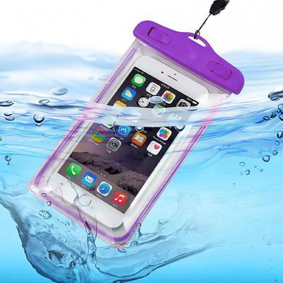 Водонепроницаемый чехол для телефона с ремешком фиолетовый 180969