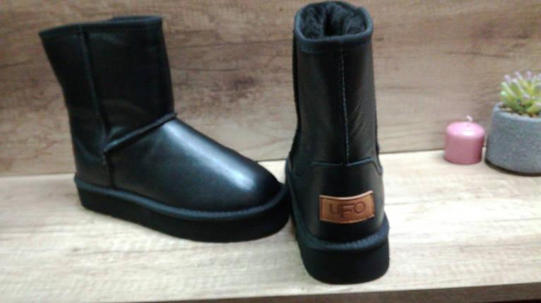 Зимние женские кожаные черные угги ., фото 2
