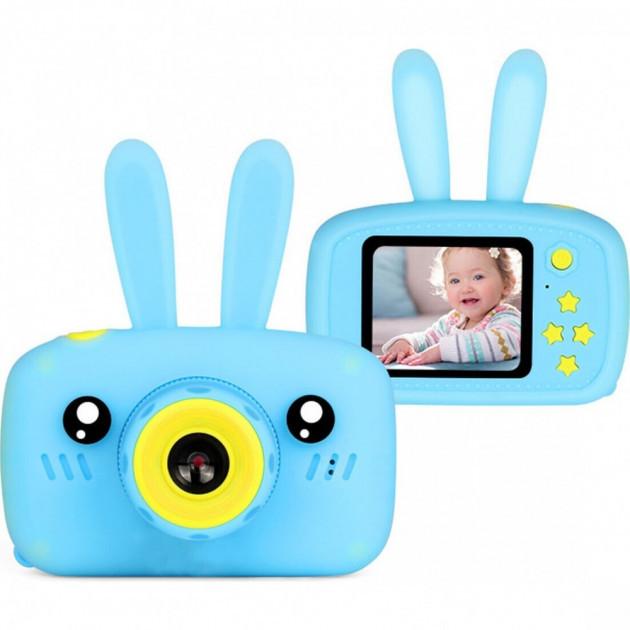 Детская фотокамера Baby Photo Camera Rabbit X-500 Голубая
