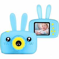 Детская фотокамера Baby Photo Camera Rabbit X-500 Голубая, фото 1