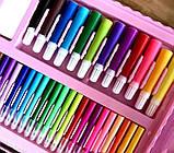 Набор для рисования розовый, чемодан творчества 208, уценка (коробка чуть повреждена) hm, фото 4