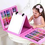 Набор для рисования розовый, чемодан творчества 208, уценка (коробка чуть повреждена) hm, фото 6