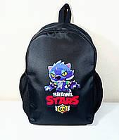 Рюкзак дитячий/підлітковий з принтом Леон Перевертень Бравл Старс Brawl Stars