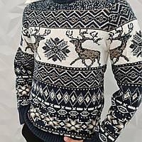 Подростковый теплый свитер с оленями Турецкий