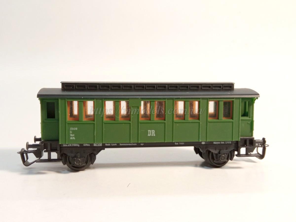 BTTB 2х осный пассажирский вагон DR , масштаба 1:120,ТТ
