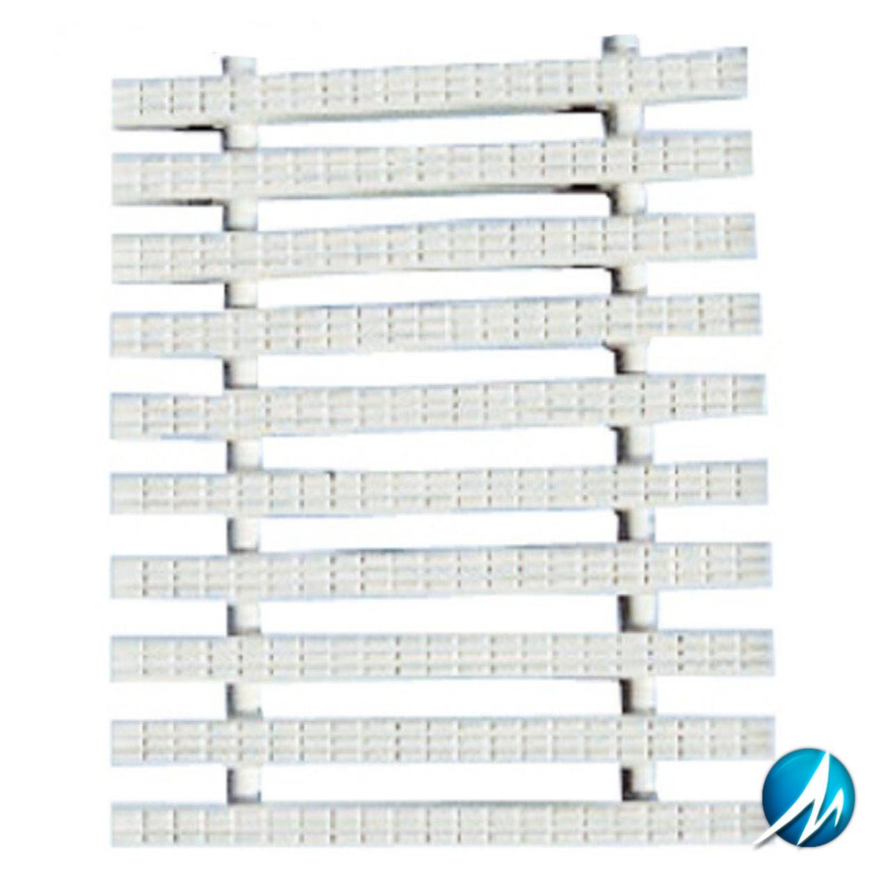 Переливная решетка AquaViva Classic с двойным соединением 245x25 мм (белая)