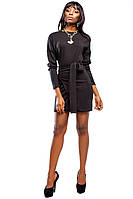 Шикарное Мини Платье с Ангоры Черное S-XL, фото 1