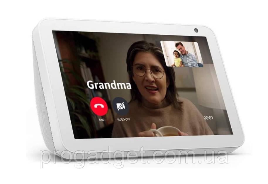 Умная колонка Echo Show 8 - умный дисплей HD с Alexa - оставайтесь на связи с видеозвонками - цвет Белый