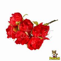 Роза Эустома красная, диаметр 4 см 1 шт