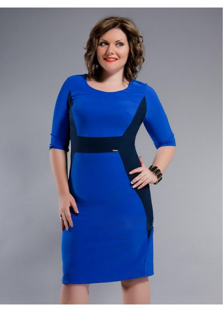 Синие платье больших размеров