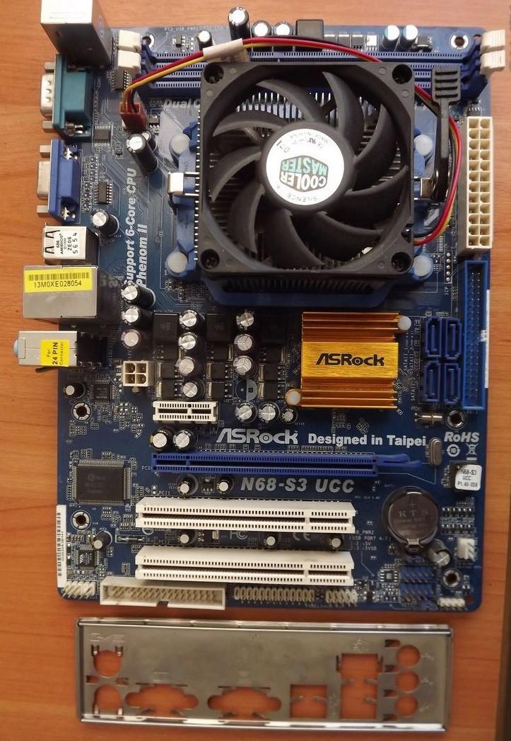 4ех ЯДЕРНЫЙ КОМПЛЕКТ AMD- Мат. Плата sAM3 на DDR3 + Процессор Athlon X4 640 ( 4  ЯДРА по 3 Ghz КАЖДОЕ )