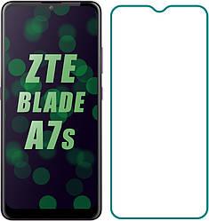 Защитное стекло ZTE Blade A7s 2020 (A7020) (Прозрачное 2.5 D 9H) (ЗТЕ Блейд А7с)