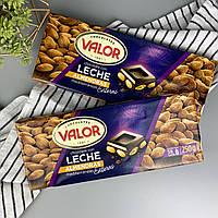 Шоколад молочный с цельным миндалём без глютена Валор Valor 250 г