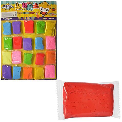 Набор для творчества пластилин MK1084/ 7210-20/ D001  пакет 19 грамм (8*5см), 7 цветов, 20шт на план