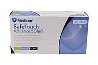 Перчатки нитриловые MEDICOM SafeTouch L 100 шт Черные (MEDICOMчерныеL)