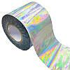 Фольга переводная для литья и дизайна серебро голографик 100 см