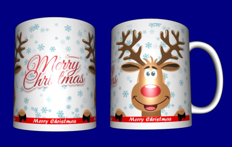Кружка / чашка новогодний олень, Merry Christmas