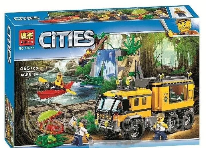 """Конструктор Bela """"Citles"""" (10711) Передвижная лаборатория в джунглях, 465 деталей - Аналог Lego 60160"""