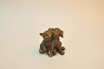 Декоративная Фигурка Кошка с собачкой парочка 9 см