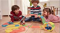 Детская гибкая игрушечная Дорога Magic Tracks 360 деталей железная дорога с машинками
