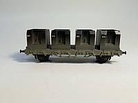 BTTB 2х осный спецвагон для перевозки сипучих материалов, масштаба 1:120,ТТ