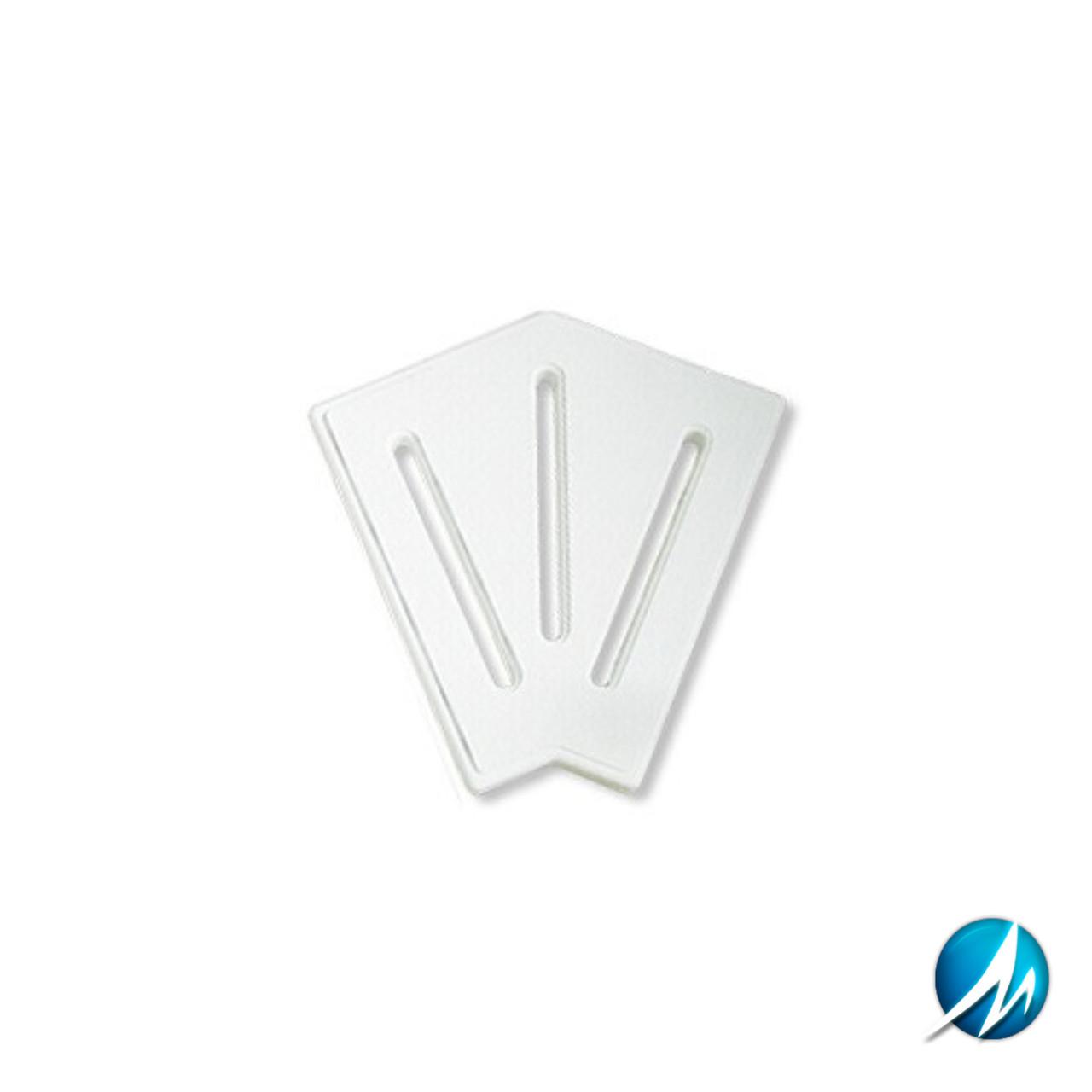 Кутовий елемент AquaViva KK-25-2 Classic для переливної решітки 45° 245/25 мм (білий)