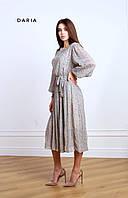 Воздушное платье с поясом ЛЧ 017 /01, фото 1