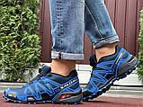 Salomon Speedcross 3 демисезонные мужские кроссовки в стиле Саломон синие с темно-синим, фото 5