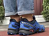 Salomon Speedcross 3 демисезонные мужские кроссовки в стиле Саломон синие с темно-синим, фото 2