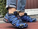 Salomon Speedcross 3 демисезонные мужские кроссовки в стиле Саломон синие с темно-синим, фото 4