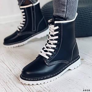Черно белые ботинки 6808 (ММ)